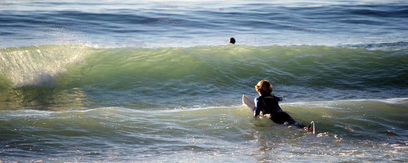 Сёрфинг для начинающих: Греби тогда, когда это необходимо!